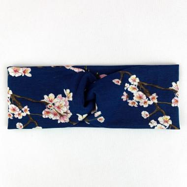 Haarband Blüten Dunkelblau