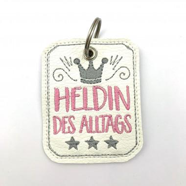 Schlüsselanhänger Heldin Weiss