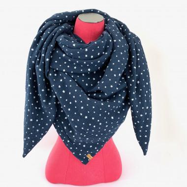 Dreieckstuch Stars dunkelblau