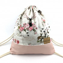 Deer Flower Bag rosa